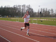 Bernie beim Finish